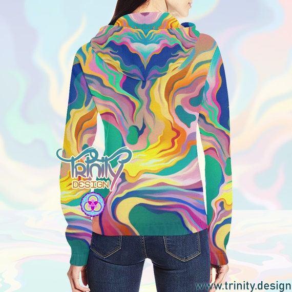 Psy Clothing Psychedelic Rave HOODIE Clothing Festival Psytrance Trippy Goa Clothing Futuristic Outfit Clothing Hippie Trance Clothing TTCfwPqx