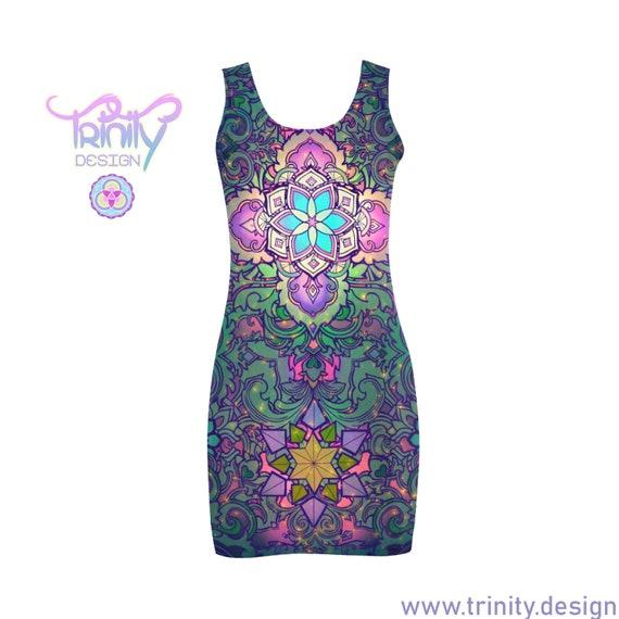 SACRED FLOWER Bodycon Dress