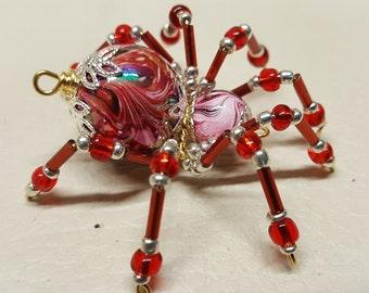 Small Steampunk Beaded Rainbow Spider