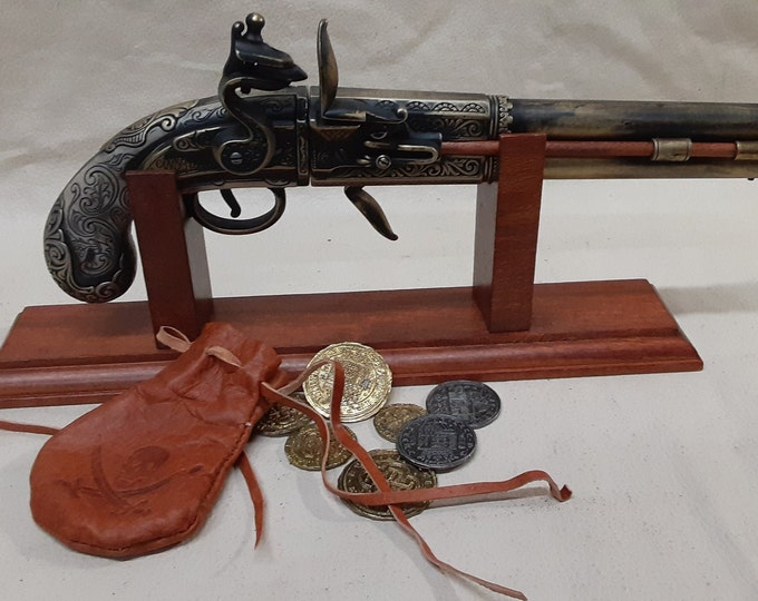 Steampunk Style 17th Century Aged 2 Barrel Flintlock