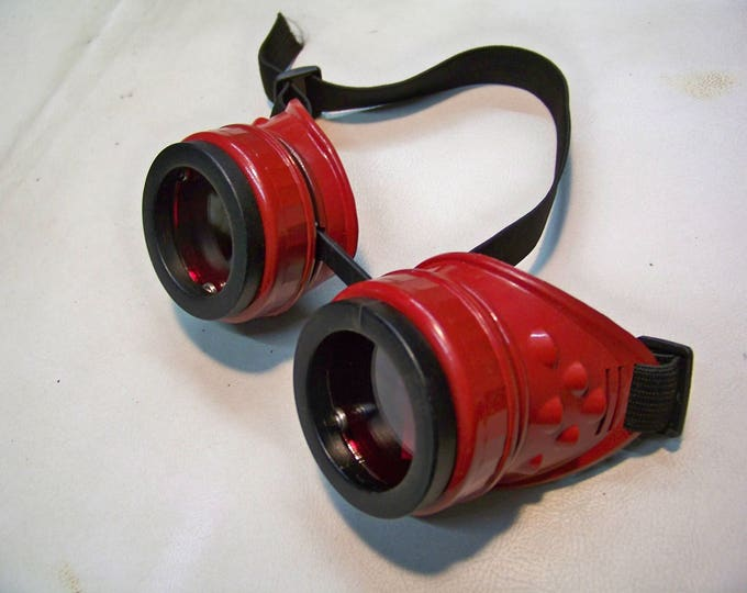 Slightly Distressed Steampunk Goggles Inspired By Dead Pool
