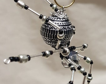 Christmas Silver Beaded Spider