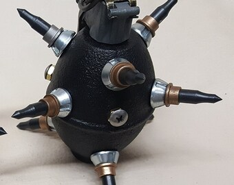 Black Spiked Steampunk Lemon Grenade