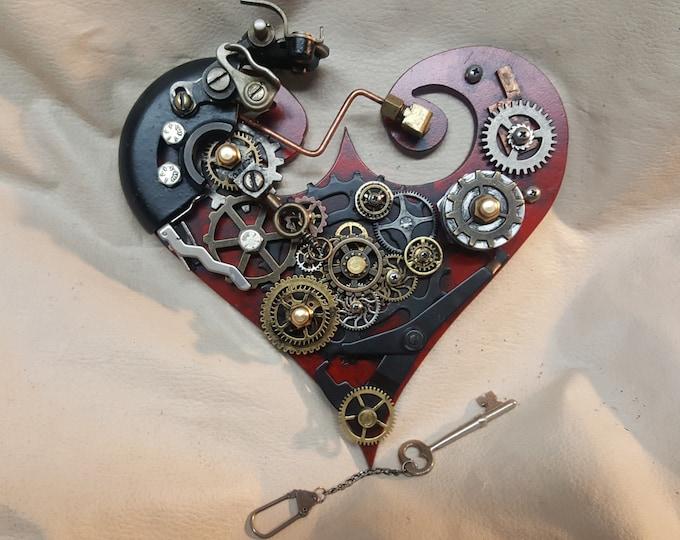 Steampunk Geared Heart Wall Hanger