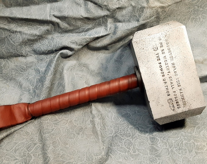 Mjolnir - Mythical Hammer of Thor with Etched Enchantment