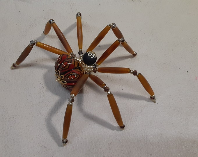 Extra Large Steampunk Ceramic Drawer Pull Spider