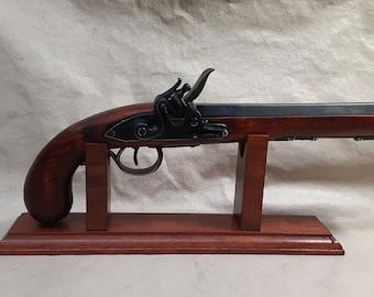 Steampunk Style 18th Century Aged Non Firing Deluxe Kentucky Flintlock