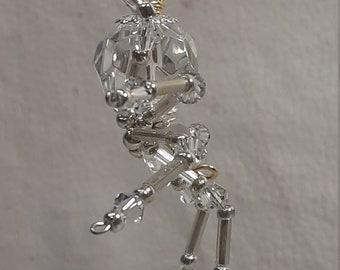 Steampunk/Christmas Dew Drop Glass Crystalline Ice Spider