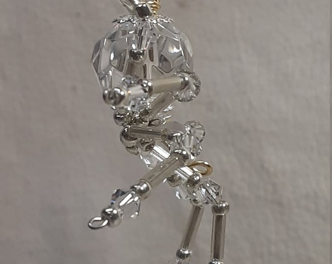 Steampunk/Christmas Dew Drop Glass Crystalline Ice Spider