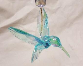 Crystal Hummingbird Sun Catcher