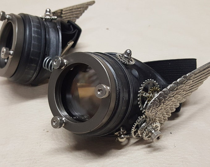 Steampunk Black Valkyrie Goggles