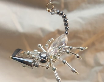 Steampunk Beaded Pewter Scorpion