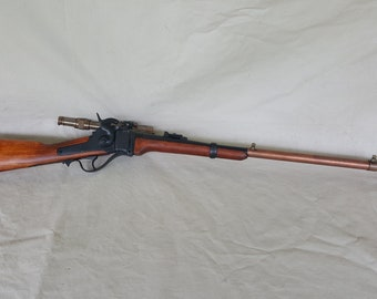 Steampunk Lever Action 1859 Sharps Carbine Sniper Ether Rifle W/Scope