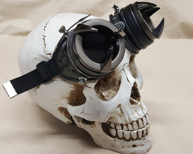 Steampunk Black Kraken Engineer Goggles