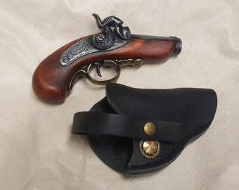 Steampunk 1850 Black Powder Philadelphia Derringer w/Holster