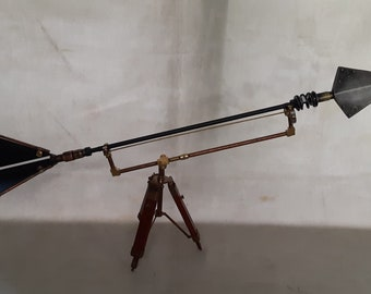 Large Steampunk Airship Boarding  Arrow with Tripodal Display Stand