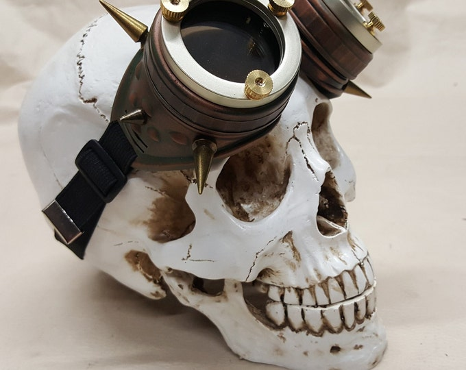 Spiked Steampunk Copper Engineer Goggles