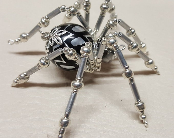 Steampunk Crystalline Black/Silver Ice Spider
