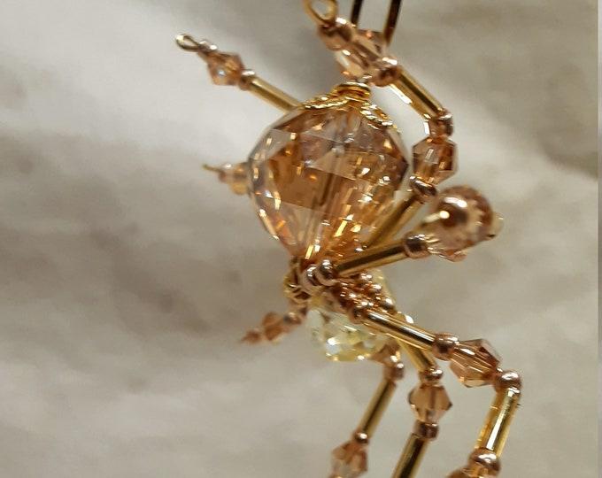 Steampunk Crystalline Amber Spider