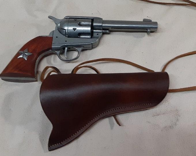 "1873 Colt Gray ""Peacemaker"" Revolver Non Firing Replica w/Holster"