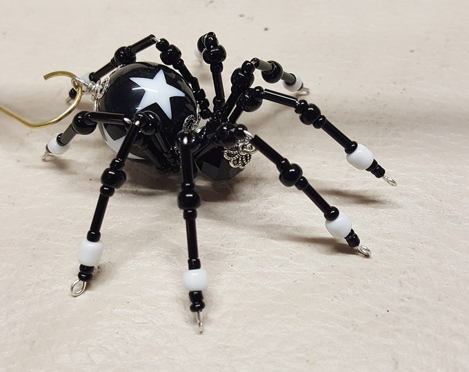 Steampunk Black Star Beaded Spider