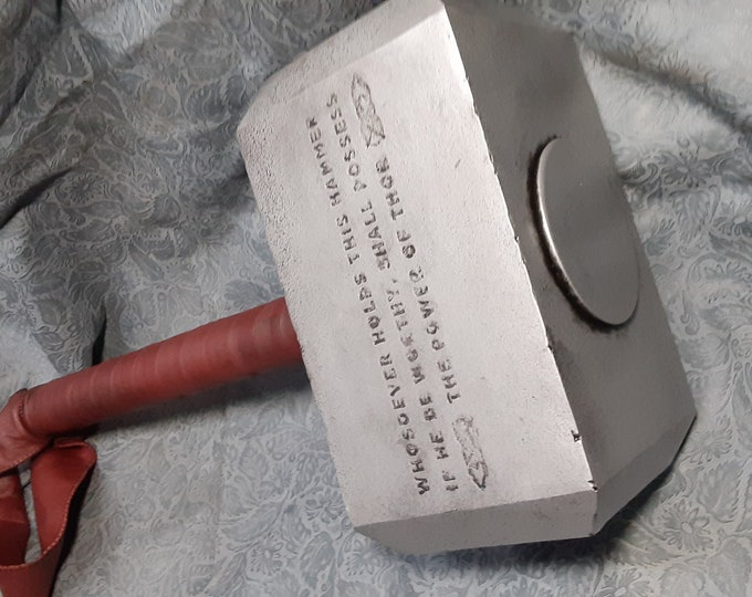 Mjolnir - Mythical Hammer of Thor with Inverted Etched Enchantment