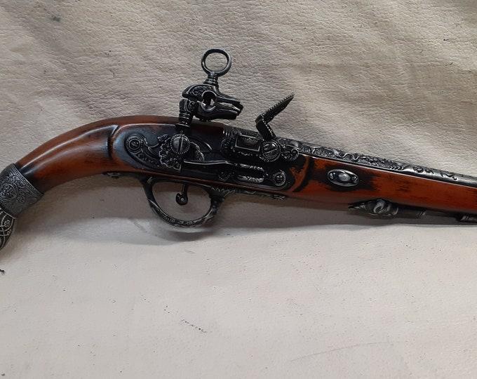 17th Century Aged Spanish Flintlock Pistol