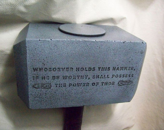Mjolnir - Mythical Hammer of Thor with Etching