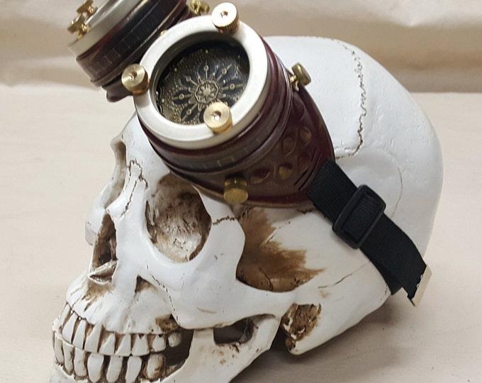 Steampunk Burgundy Engineer Goggles