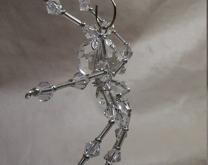 Steampunk/Christmas Faceted Crystalline Glass Ice Spider