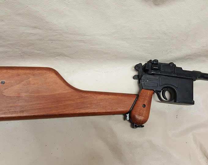 C 96 Broom Handle Mauser Non firing Replica with Stock and Stock Holster