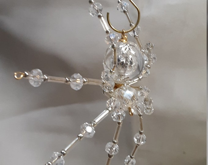 Steampunk Crystalline Dew Drop Ice Spider