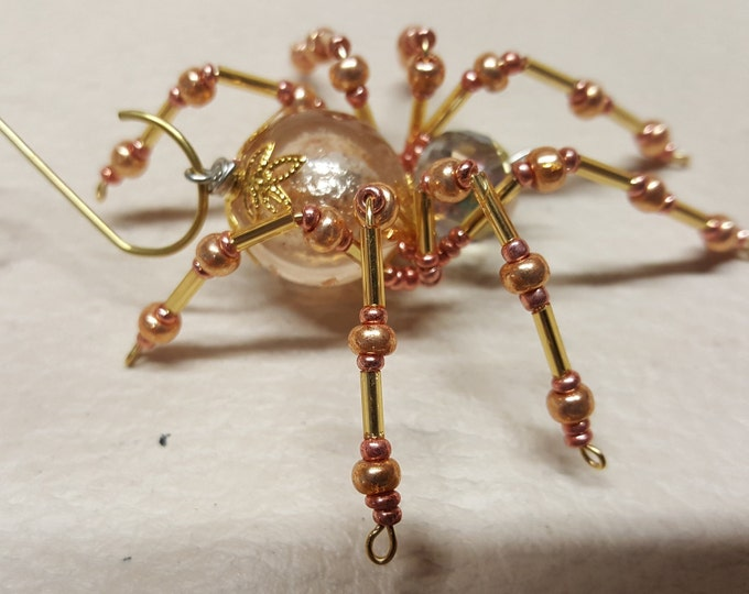 Steampunk Crystalline Golden Ice Spider