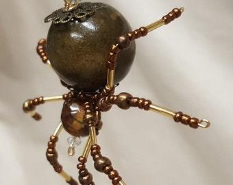 Steampunk Beaded Barn Spider