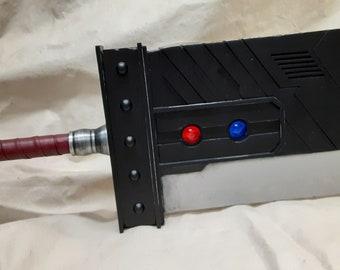 Custom Made Metal Cloud Strife FFVII Original Remake Buster Sword (Red Leather Handle Wrap)