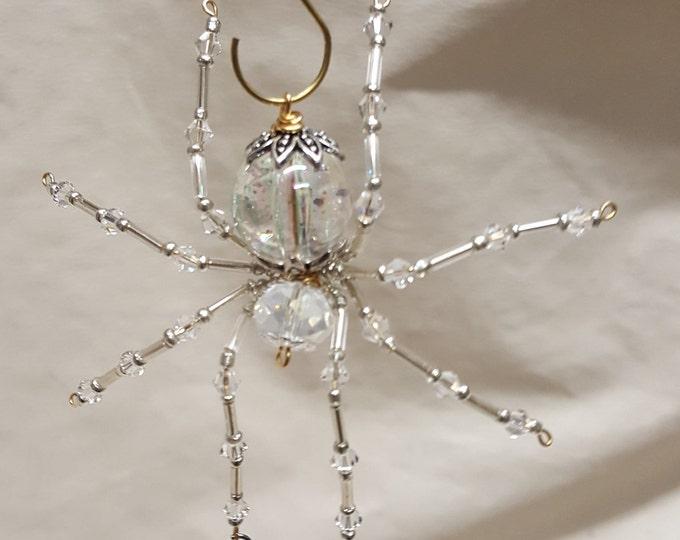 Steampunk/Christmas Dew Drop Crystalline Ice Spider