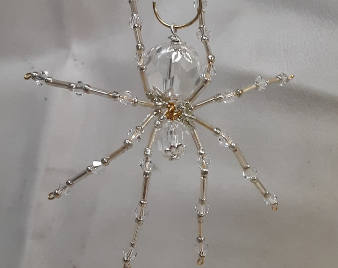 Steampunk Crystalline Faceted Dew Drop Ice Spider