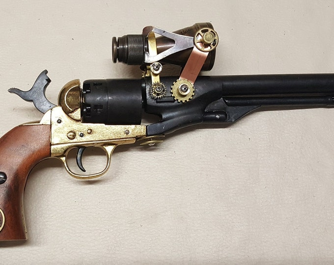 Steampunk 1860 Colt Army Revolver W/Scope