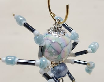 Small Steampunk Beaded Opalescent Spider