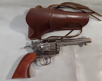"""1873 Colt """"Peacemaker"""" Fast Draw Decorative Revolver Non Firing Replica w/Holster"""