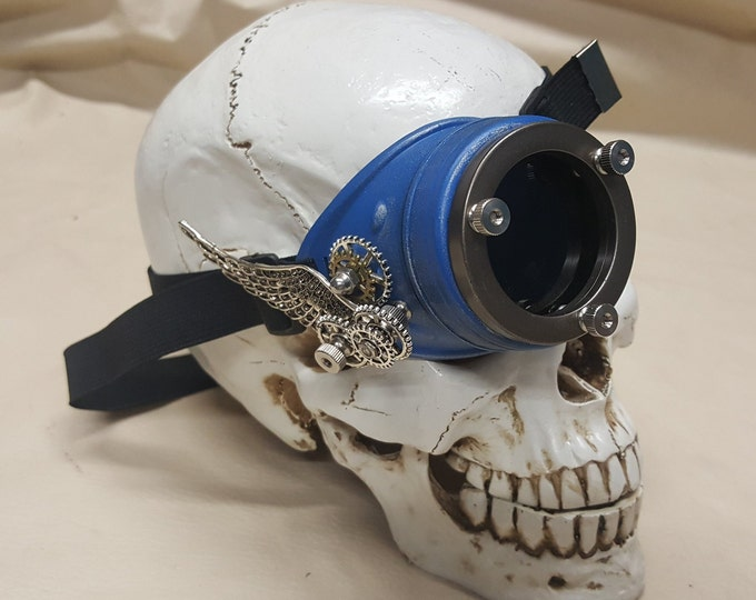 Winged Steampunk Engineer Mono-Goggle /Eye Patch