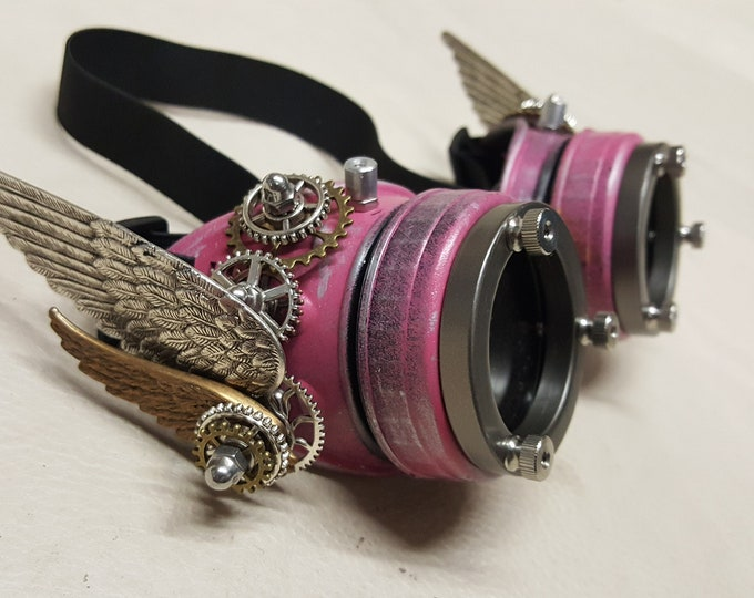 Steampunk Double Winged Valkyrie Goggles