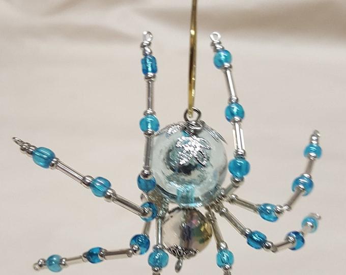 Steampunk Crystalline Blue Ice Spider