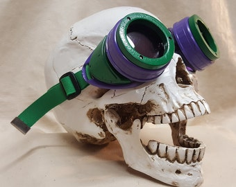 Slightly Distressed Steampunk Goggles Inspired By The Joker
