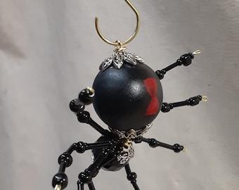Steampunk Beaded Black Widow Spider