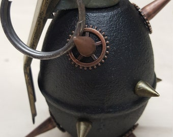 Copper Spiked Steampunk Grenade