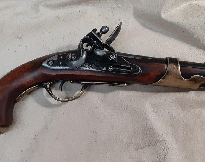 Steampunk Style 19th Century Aged Napoleonic Flintlock