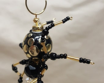 Steampunk Black/Gold Spotted Spider