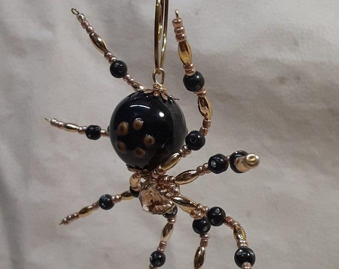 Steampunk/Christmas Brown Wolf Spider