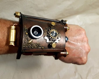 Steampunk Vortex Manipulator With Wooden Steampunk Box